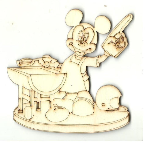 Mickey Bbq - Laser Cut Wood Shape Dsy162 Craft Supply