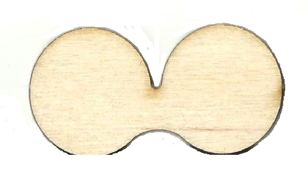 Mouse Ears - Laser Cut Wood Shape Dsy165 Craft Supply