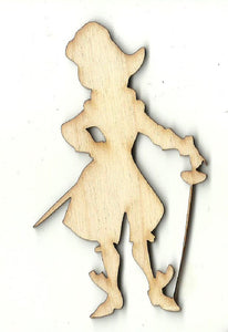 Captain Hook - Laser Cut Wood Shape DSY176