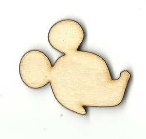 Mickey Mouse Head - Laser Cut Wood Shape Dsy129 Craft Supply