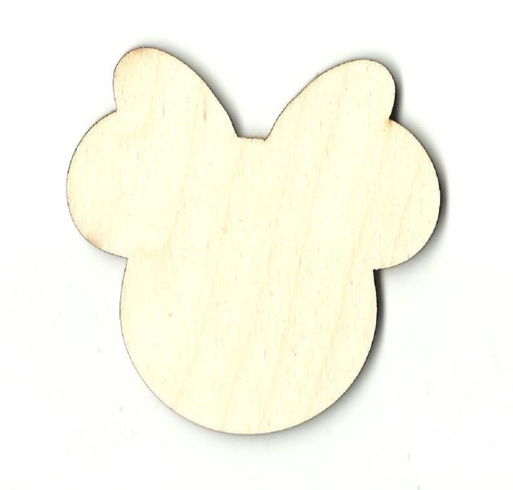 Minnie Mouse Head - Laser Cut Wood Shape Dsy120 Craft Supply