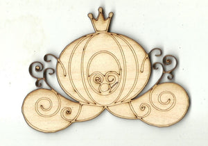 Cinderella's Carriage - Laser Cut Wood Shape DSY4