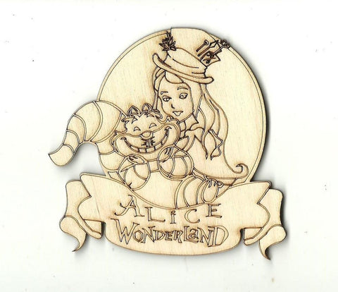 Alice In Wonderland - Laser Cut Wood Shape Dsy75 Craft Supply
