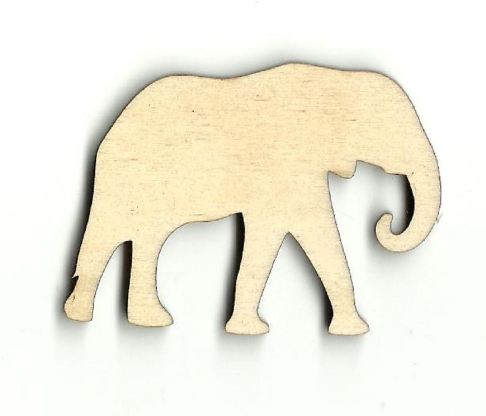 Elephant - Laser Cut Wood Shape Ele11 Craft Supply