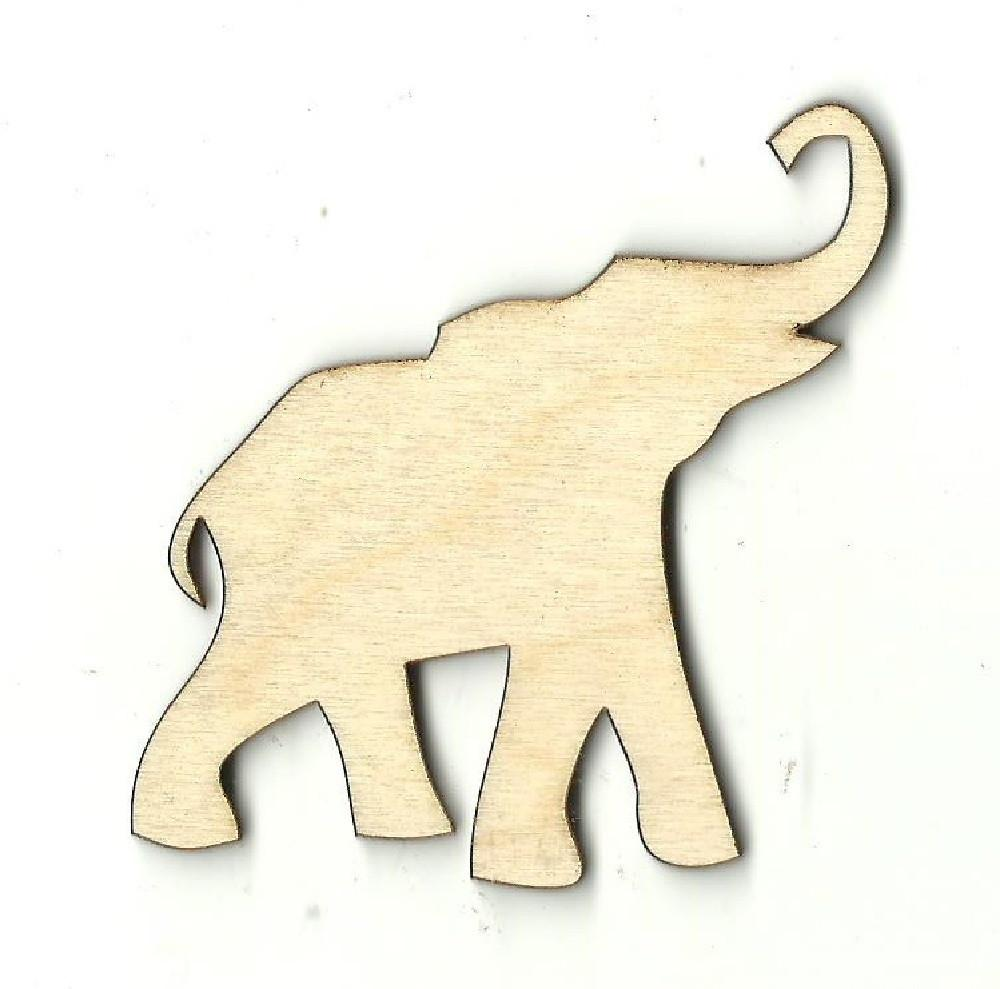 Elephant - Laser Cut Wood Shape Ele1 Craft Supply