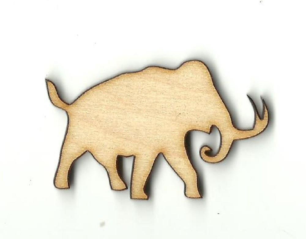 Mammoth - Laser Cut Wood Shape Ele14 Craft Supply