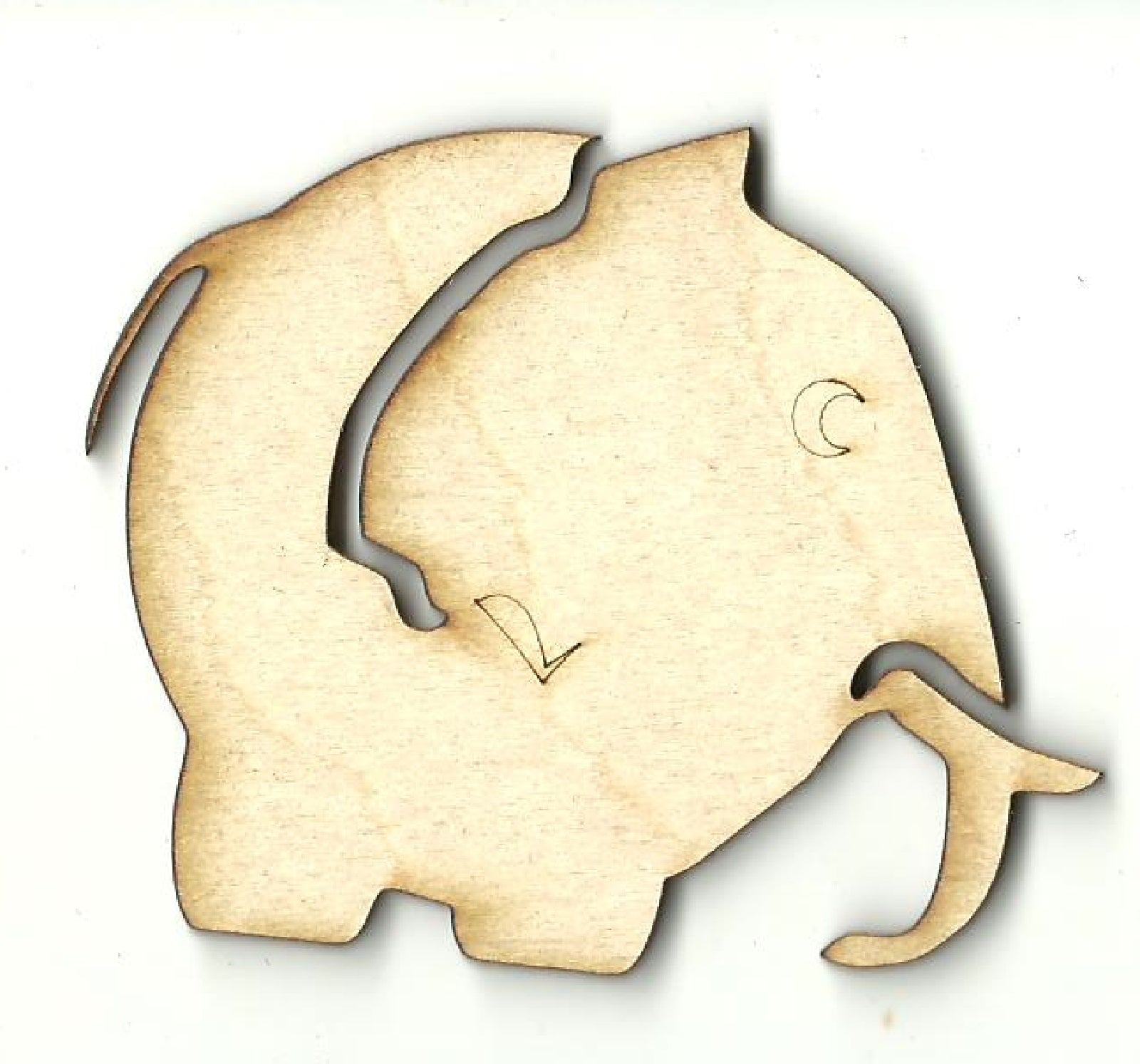 Elephant - Laser Cut Wood Shape ELE48