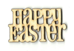 Happy Easter - Laser Cut Wood Shape Esr20 Craft Supply