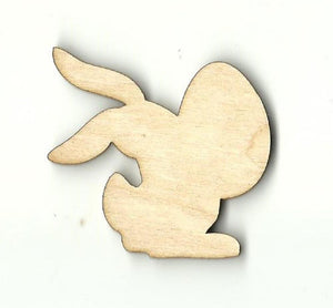 Bunny Rabbit With Easter Egg - Laser Cut Wood Shape Esr17 Craft Supply