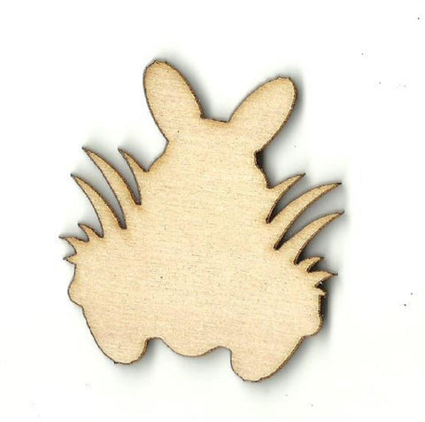 Bunny Rabbit In Grass - Laser Cut Wood Shape Esr18 Craft Supply