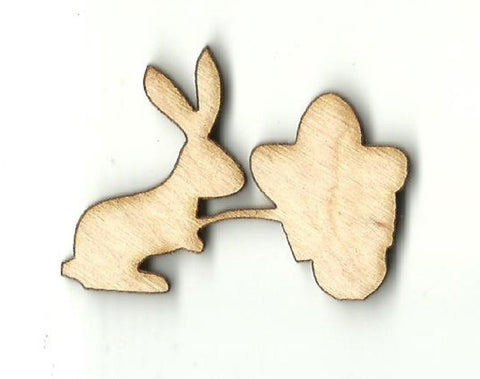 Easter Bunny & Cart - Laser Cut Wood Shape Esr16 Craft Supply