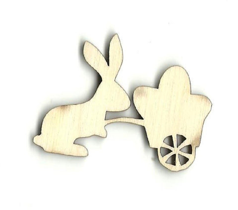 Bunny Rabbit With Easter Eggs - Laser Cut Wood Shape Esr2 Craft Supply