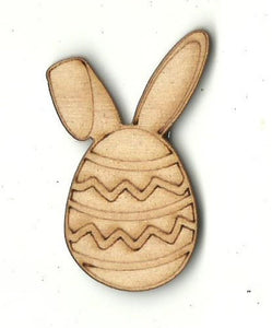 Easter Egg With Bunny Ears - Laser Cut Wood Shape Esr35 Craft Supply