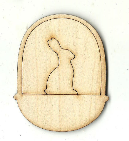 Bunny in an Easter Basket - Laser Cut Wood Shape ESR38