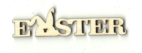 Easter Bunny Word - Laser Cut Wood Shape Esr8 Craft Supply