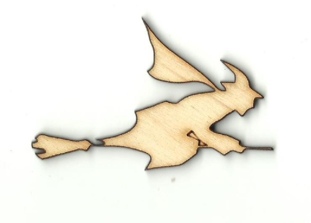 Witch On A Broom - Laser Cut Wood Shape Fal101 Craft Supply