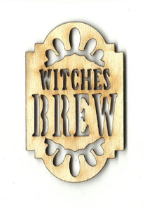 Witches Brew Tag Label - Laser Cut Wood Shape FAL10
