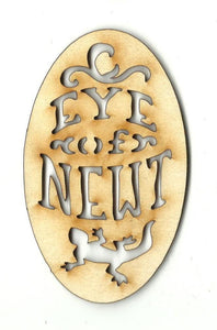 Eye Of Newt Tag Label - Laser Cut Wood Shape Fal12 Craft Supply