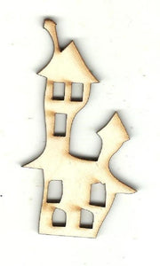 Haunted House - Laser Cut Wood Shape Fal151 Craft Supply