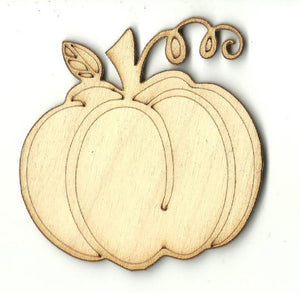 Pumpkin - Laser Cut Wood Shape Fal186 Craft Supply