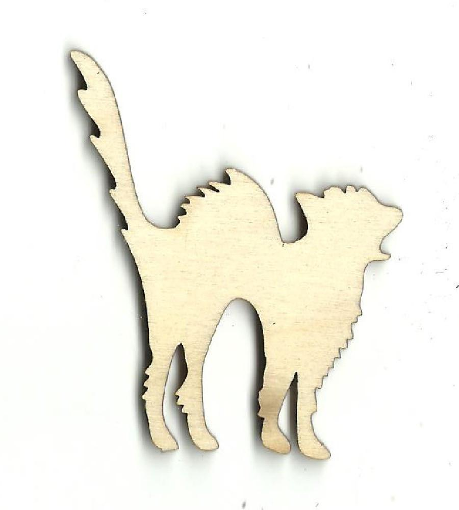 Kitty Cat - Laser Cut Wood Shape Fal1 Craft Supply