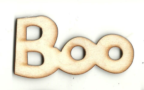 Boo - Laser Cut Wood Shape FAL235