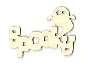 Spooky Ghost - Laser Cut Wood Shape Fal24 Craft Supply