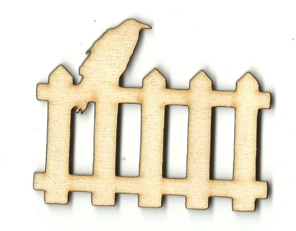 Raven On A Fence - Laser Cut Wood Shape Fal157 Craft Supply