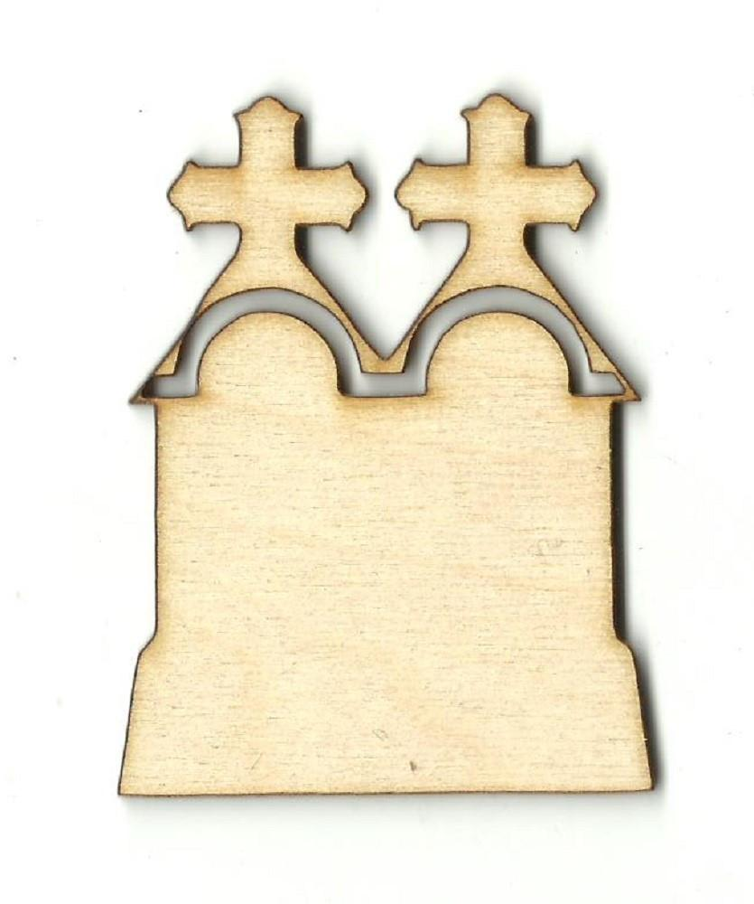 Double Tombstone - Laser Cut Wood Shape Fal156 Craft Supply