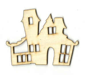 Haunted House - Laser Cut Wood Shape Fal155 Craft Supply