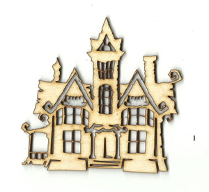Haunted House - Laser Cut Wood Shape Fal142 Craft Supply