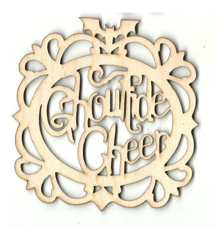 Framed Ghoultide Cheer - Laser Cut Wood Shape Fal82 Craft Supply