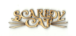 Scaredy Cat Whiskers - Laser Cut Wood Shape Fal9 Craft Supply