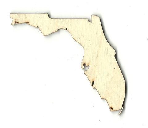 Florida - Laser Cut Wood Shape Craft Supply