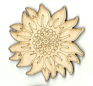 Sunflower - Laser Cut Wood Shape FLR105
