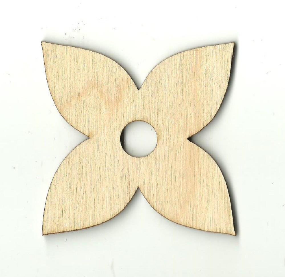 Flower - Laser Cut Wood Shape Flr12 Craft Supply