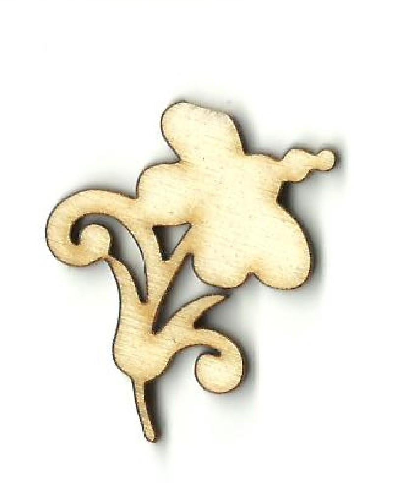 Flower - Laser Cut Wood Shape Flr28 Craft Supply