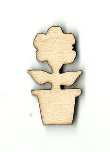 Flower In A Pot - Laser Cut Wood Shape Flr34 Craft Supply
