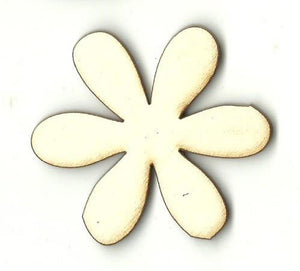 Flower - Laser Cut Wood Shape Flr64 Craft Supply