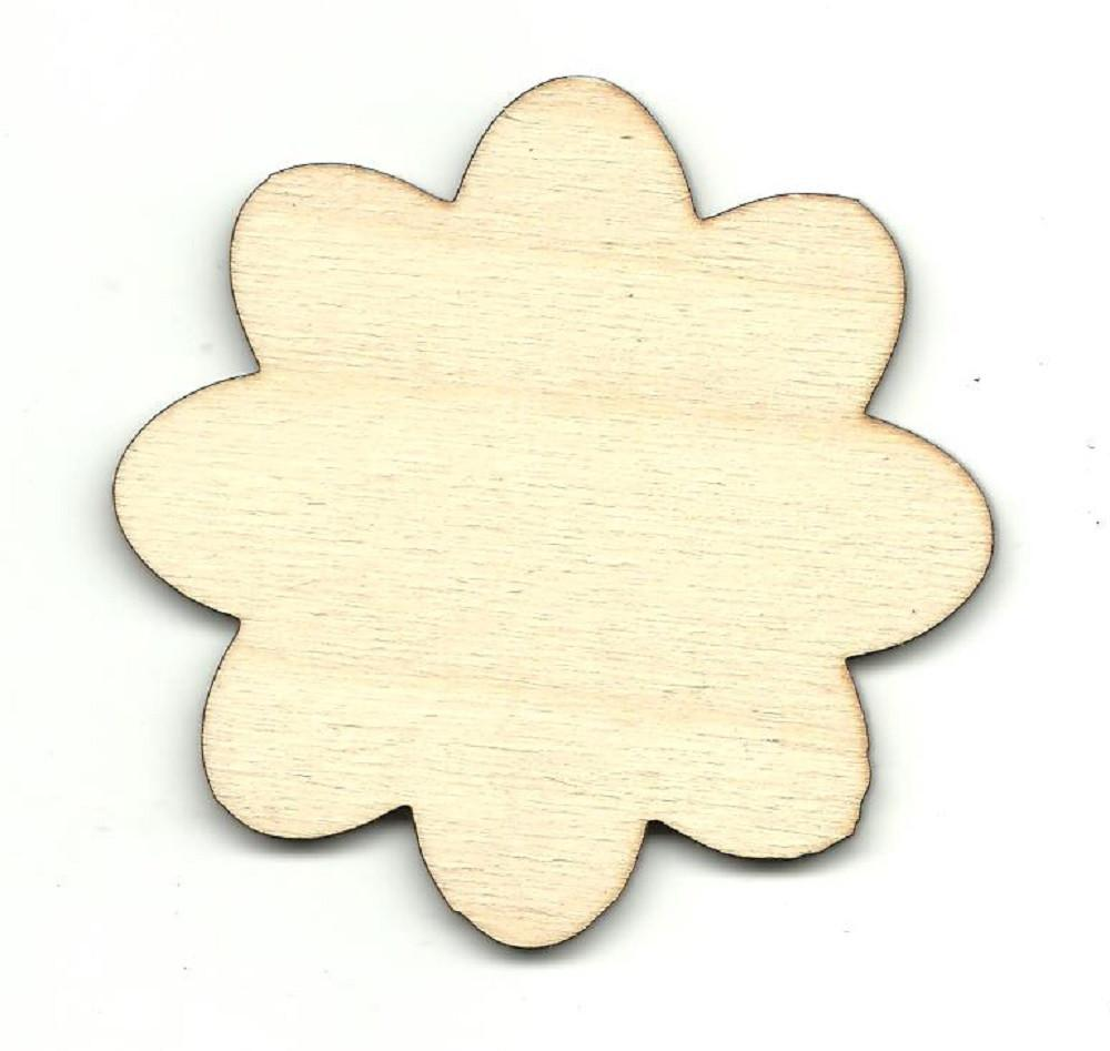 Flower - Laser Cut Wood Shape Flr32 Craft Supply