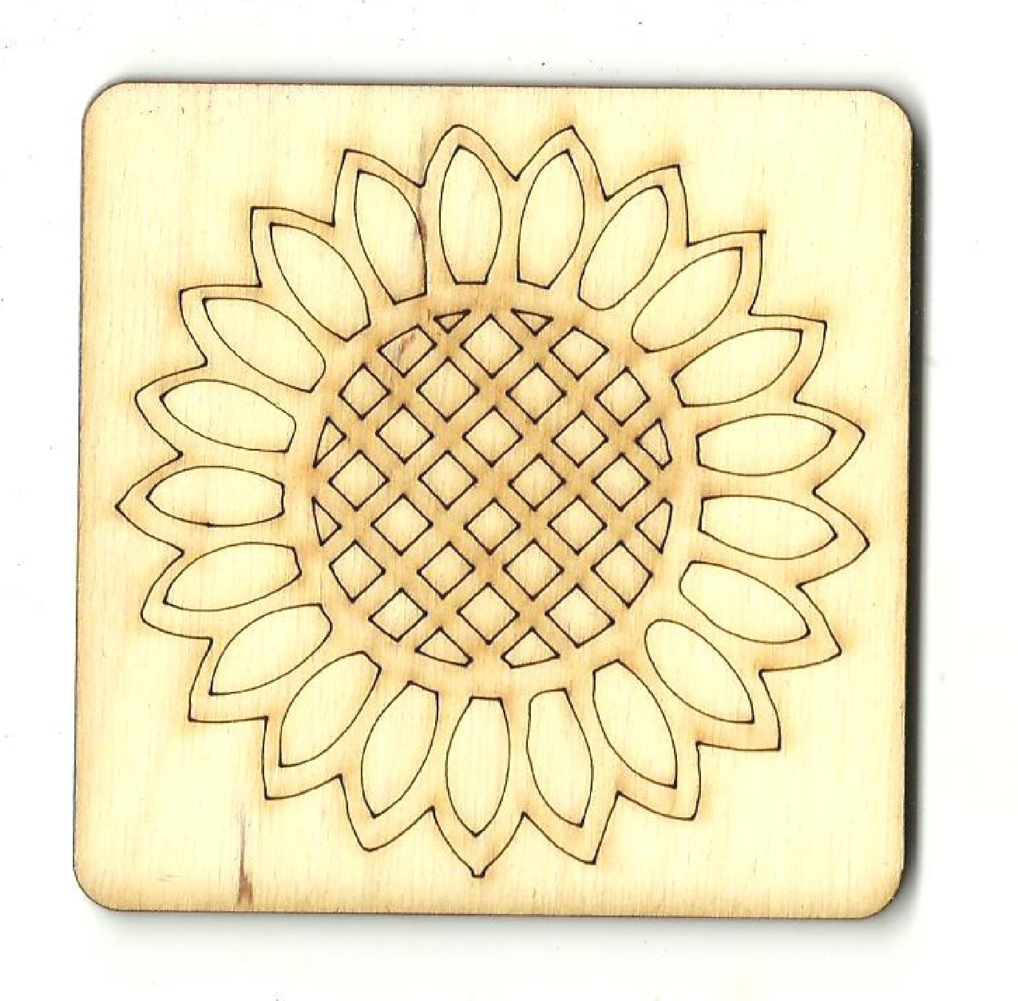 Flower - Laser Cut Wood Shape FLR85
