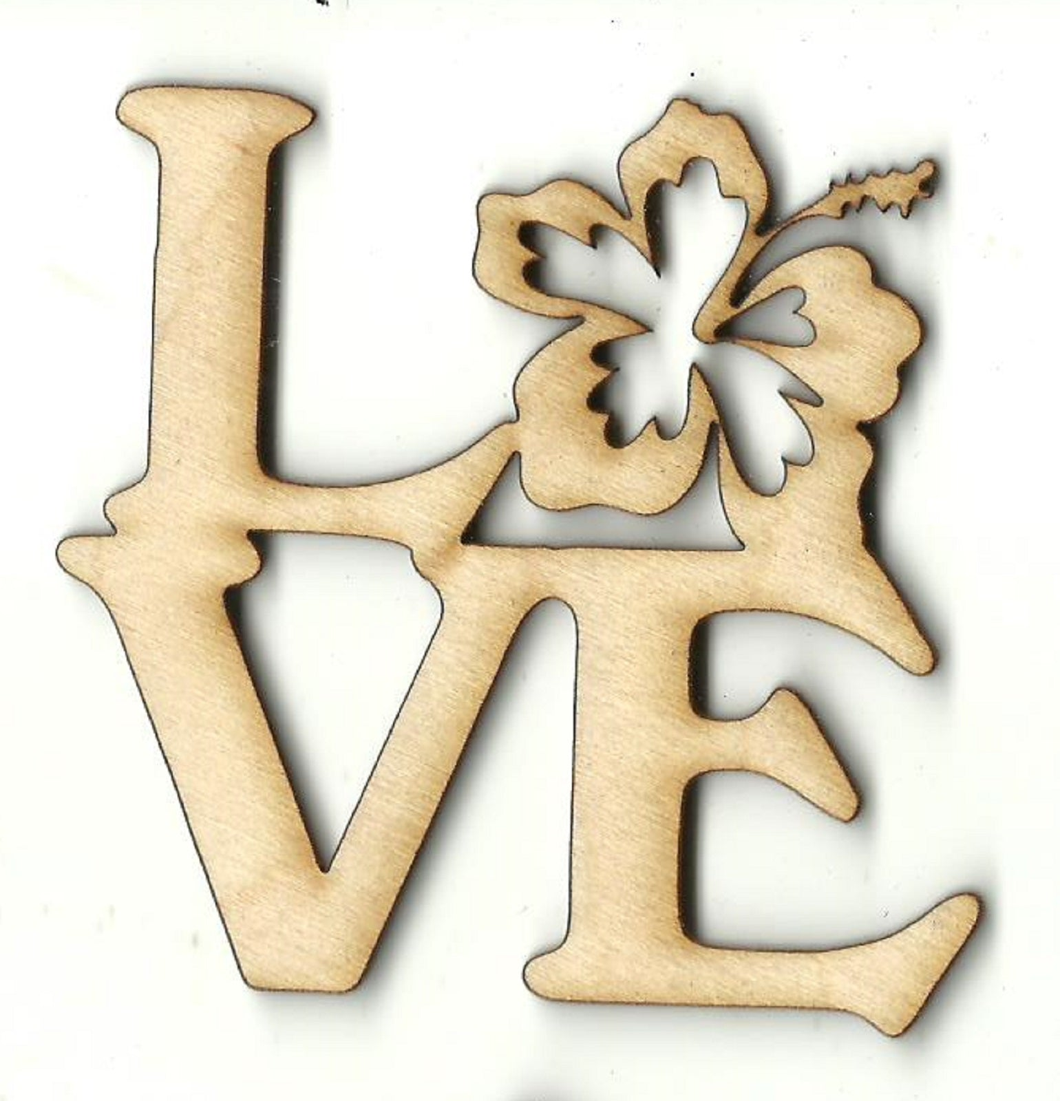 Love Flowers - Laser Cut Wood Shape FLR94