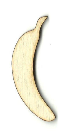 Banana - Laser Cut Wood Shape Fod107 Craft Supply