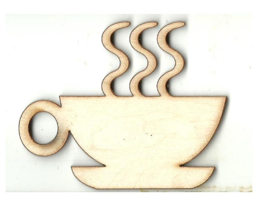 Coffee Cup - Laser Cut Wood Shape Fod114 Craft Supply