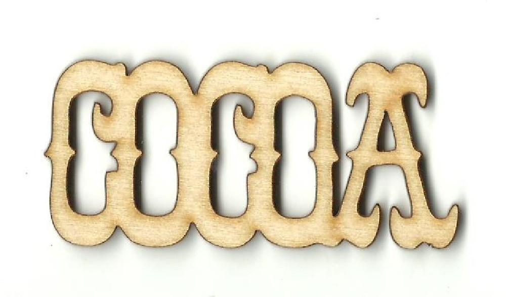 Cocoa - Laser Cut Wood Shape Fod134 Craft Supply