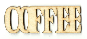 Coffee - Laser Cut Wood Shape Fod135 Craft Supply