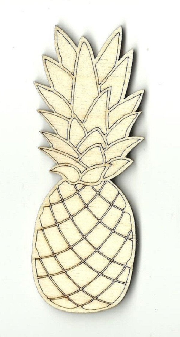 Pineapple - Laser Cut Wood Shape Fod14 Craft Supply