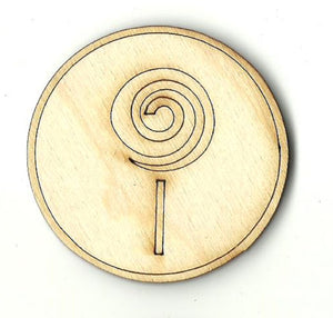 Candy Lollipop - Laser Cut Wood Shape FOD195