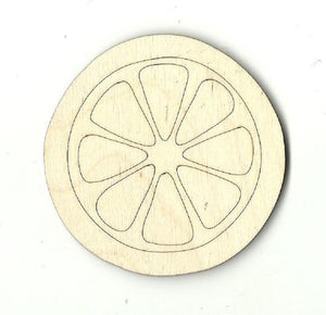 Lemon Slice - Laser Cut Wood Shape Fod24 Craft Supply