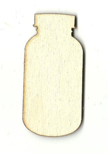 Mason Jar - Laser Cut Wood Shape Fod47 Craft Supply